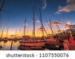 beautiful panorama of sailing... | Shutterstock . vector #1107550076