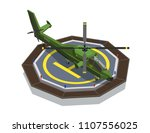 airplanes helicopters isometric ... | Shutterstock .eps vector #1107556025