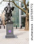 Small photo of LONDON - APR 2018: Statue of politician John Wilkes in Fetter Lane, Farringdon