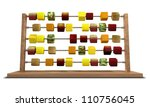 an abacus with stylized cubes... | Shutterstock . vector #110756045