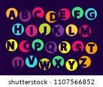 abc letters  color font sample...   Shutterstock .eps vector #1107566852