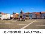 cental town square of ceske...   Shutterstock . vector #1107579062