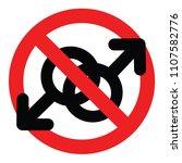 no gay  forbidden for two men | Shutterstock .eps vector #1107582776