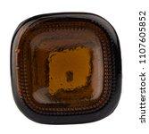 glass bottle brown isolated on...   Shutterstock . vector #1107605852