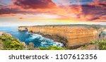 magnificence of great ocean... | Shutterstock . vector #1107612356
