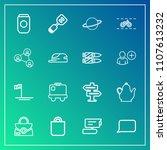 modern  simple vector icon set...   Shutterstock .eps vector #1107613232
