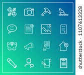 modern  simple vector icon set...   Shutterstock .eps vector #1107613328