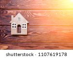 the symbol of the house stands... | Shutterstock . vector #1107619178
