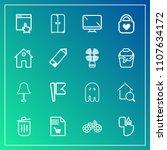 modern  simple vector icon set... | Shutterstock .eps vector #1107634172