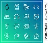 modern  simple vector icon set...   Shutterstock .eps vector #1107635798