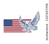 eagle on american flag. design... | Shutterstock .eps vector #1107637298