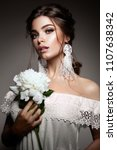 glamour portrait of beautiful... | Shutterstock . vector #1107638342