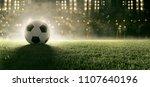 soccer ball in stadium  3d... | Shutterstock . vector #1107640196