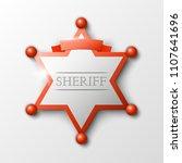 wild west sheriff metal gold... | Shutterstock .eps vector #1107641696