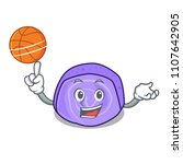 with basketball blueberry roll... | Shutterstock .eps vector #1107642905