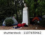 refugees and migrants in a... | Shutterstock . vector #1107650462