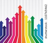 colorful graph with arrow | Shutterstock .eps vector #110765462