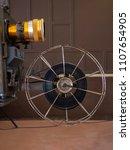 ancient movie projector | Shutterstock . vector #1107654905