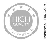 high quality guaranteed word... | Shutterstock .eps vector #1107666275