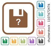 unknown file simple icons in... | Shutterstock .eps vector #1107672476