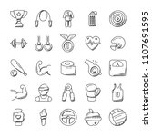 sports icon doodle set  | Shutterstock .eps vector #1107691595