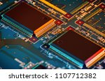 electronic circuit board close... | Shutterstock . vector #1107712382
