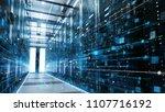 shot of a working data center...   Shutterstock . vector #1107716192