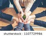 hands business team work... | Shutterstock . vector #1107729986