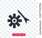 settings vector icon isolated... | Shutterstock .eps vector #1107741956