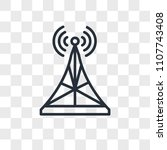 antenna vector icon isolated on ... | Shutterstock .eps vector #1107743408
