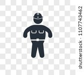 fat police agent vector icon... | Shutterstock .eps vector #1107743462