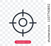focus vector icon isolated on... | Shutterstock .eps vector #1107743852