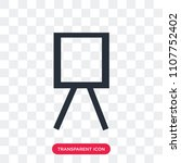 canvas vector icon isolated on... | Shutterstock .eps vector #1107752402