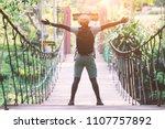 african freedom man traveller... | Shutterstock . vector #1107757892