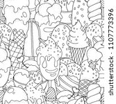 seamless pattern. coloring book ... | Shutterstock .eps vector #1107773396