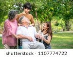 senior man with his family in... | Shutterstock . vector #1107774722