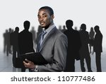 afro american businessman with...   Shutterstock . vector #110777486