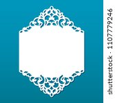 wedding invitation with lace... | Shutterstock .eps vector #1107779246
