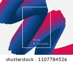 3d paint brush with vibrant... | Shutterstock .eps vector #1107784526