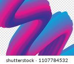 3d paint brush with vibrant...   Shutterstock .eps vector #1107784532