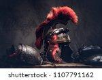 complete combat equipment of... | Shutterstock . vector #1107791162
