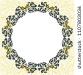 round floral frame. vector... | Shutterstock .eps vector #1107803036