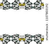 floral frame. vector... | Shutterstock .eps vector #1107803192