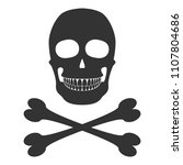 smiling skull and crossbones  ...   Shutterstock .eps vector #1107804686