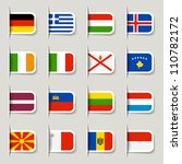 label   european flags | Shutterstock .eps vector #110782172
