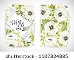 floral template card  garden...   Shutterstock .eps vector #1107824885