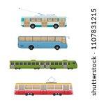 set of modern urban route... | Shutterstock .eps vector #1107831215
