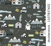 seamless vector pattern with... | Shutterstock .eps vector #1107837602