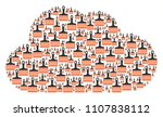 cloud shape made from wide... | Shutterstock .eps vector #1107838112