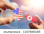 puzzles in the form of flags of ... | Shutterstock . vector #1107840185